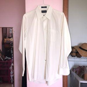 Stafford Ivory Dress Shirt Size 16 1/2
